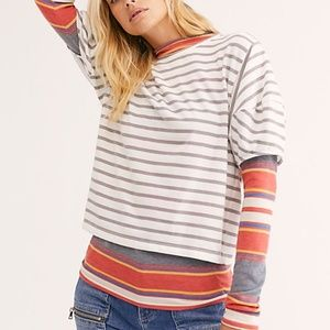 "FREE PEOPLE ""Sure Enough Tee"" NWT"